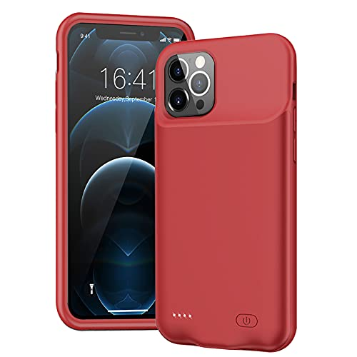 Battery Case for iPhone 12 Pro Max, 8500mAh Ultra-Slim Portable Charger Case Rechargeable Battery...