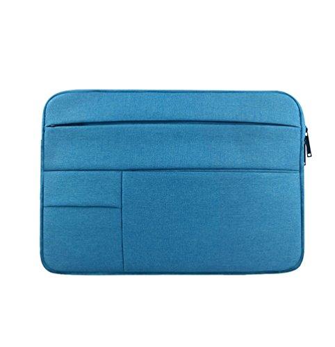 Yuncai Notebooktasche 11.6-15.6 Zoll Multifunktional Wasserdicht Stoßfest Laptop Handtasche Für Macbook Himmelblau 14.1Inch