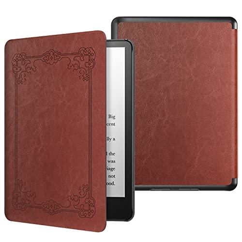 MoKo Funda Compatible con Kindle Paperwhite 11 Generación 2021, PC Estuche Carcasa Estilo Niños con Auto Sueño/Estela para Kindle Paperwhite 6.8 Pulgadas, Edición de Firma, Estilo Vintage