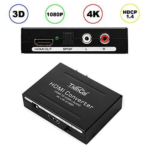 RCA to HDMI Adapter, AV to HDMI Converter with USB Cable, 1080P RCA Composite CVBS AV to HDMI Video Audio Converter