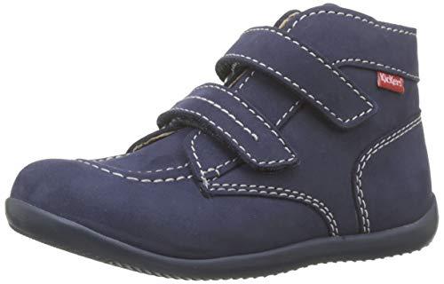 Kickers Unisex Baby Bonkro Lauflernschuhe, Blau (Marine Perm 10), 18 EU