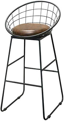 NYDZ Taburete de la Barra, Mostrador de Desayuno taburetes con Asiento de imitación de Cuero for Cocina, desayunador, Comedor, Sala de Estar, una pequeña Espacial