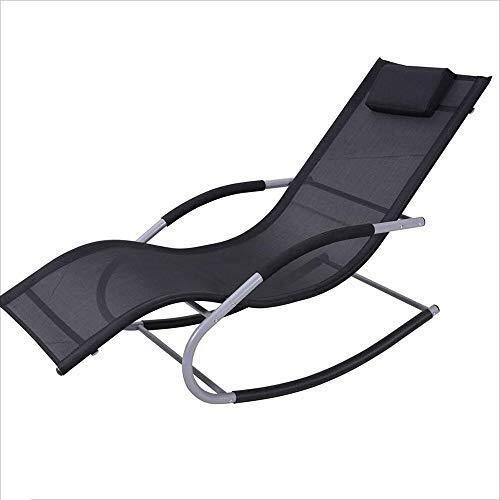 Aluminiumlegierungs-Schaukelstuhl-Recliner-Sofa-Stuhl mit Armlehnen Moderner zufälliger Stuhl für Mittagspause-Ausgangsbalkon-fauler Schaukelstuhl