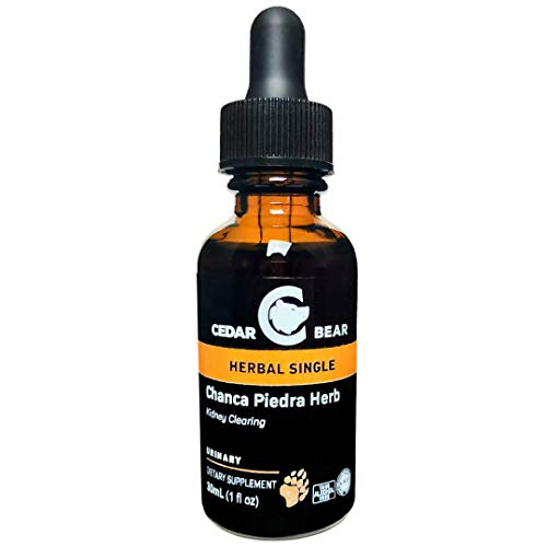 Cedar Bear Chanca Piedra Herb (Phyllanthus niruri) Liquid Herbal Supplement That Helps Clear Gallbladder and Kidneys, Supports Hepatic, Cardiovascular, Respiratory and Digestion 1 FL Oz