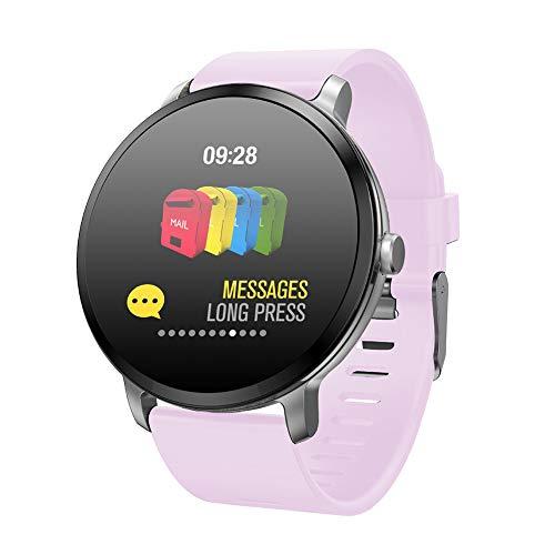 Resistencia Al Agua Reloj Inteligente,Actividad Inteligente Reloj Inteligente,Frecuencia Cardíaca Monitor De Sueño Cronómetro,GPS para iPhone Android Phone Rosa 46.5 * 42 * 11 Mm