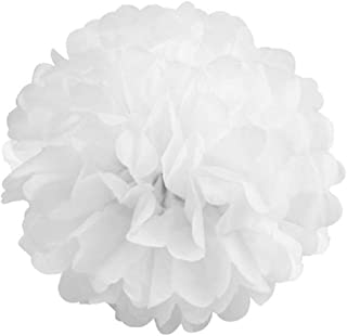 Pack of 10 Tissue Paper Flower Ball Pom pom Party Decoration Indoor Outdoor 6