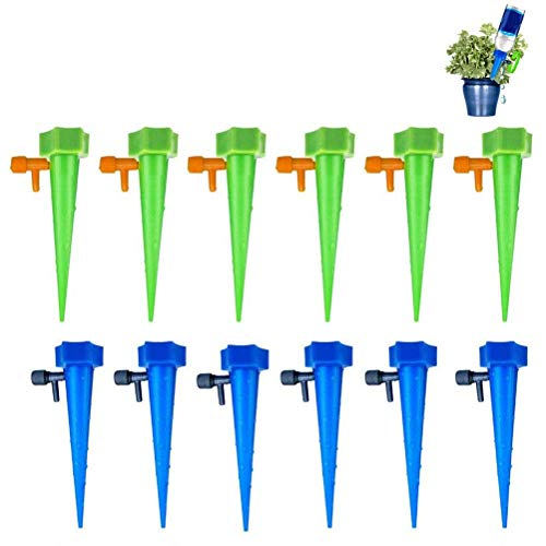 hgni 20Pcs Adjustable Automatic Watering Nail Garden Automatic Watering Tool Automatic Plant Watering Drip Irrigation Nail With Slow Release Control Valve Switch