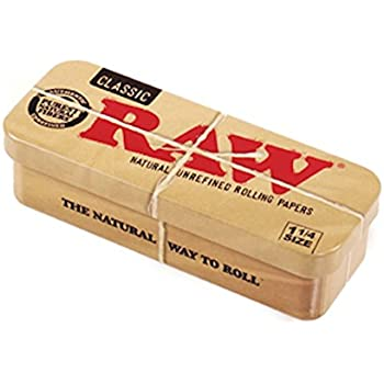 Stash Container RAW 1 1/4 Cone Caddy Metal Storage Container Tin Rolling Papers 79mm