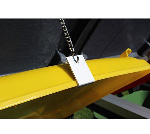 Prewood WPC Mülltonnenbox, Mülltonnenverkleidung für 2x 120l Mülltonne grau // 70x136x113 cm (LxBxH) // Gerätebox, Gartenbox & Mülltonneneinhausung - 5