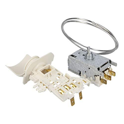 Thermostat Kühlthermostat Vollraumkühlschränke Original Whirlpool Bauknecht 480131100526 Indesit C00386787 Ranco K59-S1895/500 672mm Kapillarrohr 3x6,3mm AMP Ersatz für Atea A13-0741