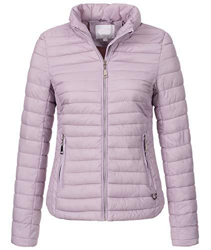Rock Creek Damen Steppjacke Übergangsjacke Leicht Outdoorjacke Damenjacke Frauen Jacken Gesteppte Jacken Herbstjacke Jacke Weste D-427 Flieder XL