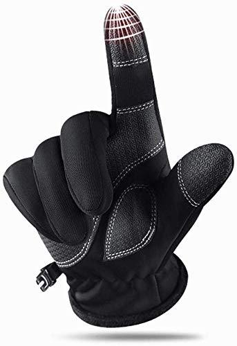 AILOVA Herren/Damen Touchscreen Handschuhe,Velvet Zipper Touchscreen Winddicht Warm Reithandschuhe (Schwarz,M)