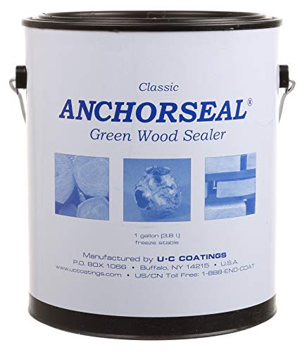 ANCHORSEAL Classic Log & Lumber End Sealer - Water Based Wax Emulsion, Prevents up to 90% of End Checking on Cut Ends of Hardwood & Softwood … (1 Gallon)
