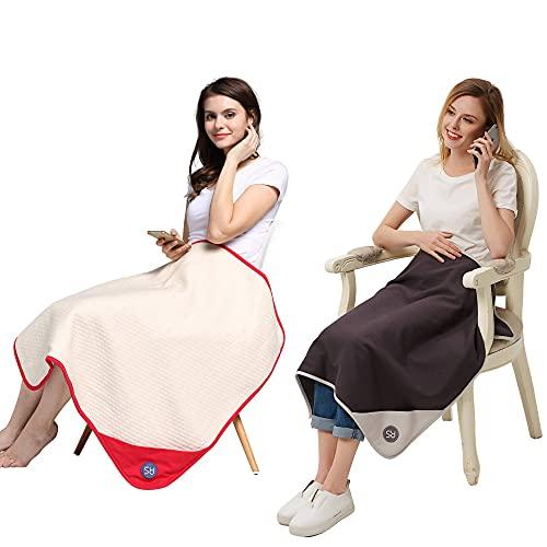 Radia Smart EMF Blanket Bundle (Red + Grey), 5G Anti-Radiation, EMF Protection Baby Blanket, Pregnancy Shielding, Cotton, 30' x 35'