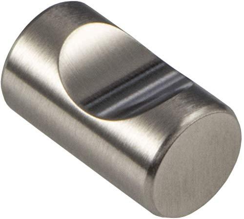 Gedotec Acciaio Inox Pomello Mobili Tondo - Acciaio Inox Spazzolato, Ø 12 x H 20 mm