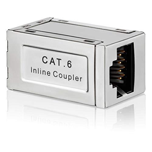 SEBSON Conector RJ45 Hembra/Hembra, Adaptador Ethernet de Extensión para Cable de Red,...