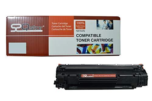 Qstar Tóner de repuesto para HP CF283A / CRG737A, cartucho de tóner negro 1,5K