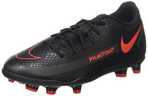 Nike JR Phantom GT Club FG/MG, Scarpe da Calcio, Black/Chile Red-Dk Smoke Grey, 35 EU