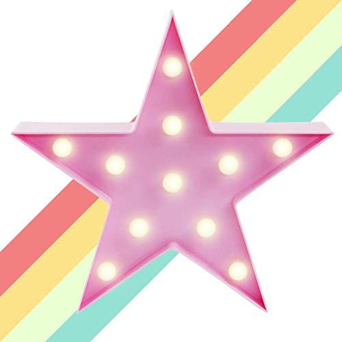 XIYUNTE LED Lámparas Luces nocturnas - Pentagram Modelado Iluminación infantil nocturna Lámparas de pared, Lámparas Decoración casera para la sala de estar, navidad, partido(pink star)