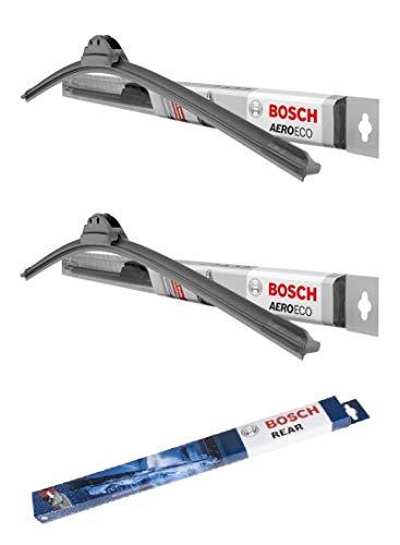Bester der welt Perfekt passend zu Bosch AEROECO, 3X Wischerblatt kompatibel mit Jaguar X-Type (Bj. 2003-2009)