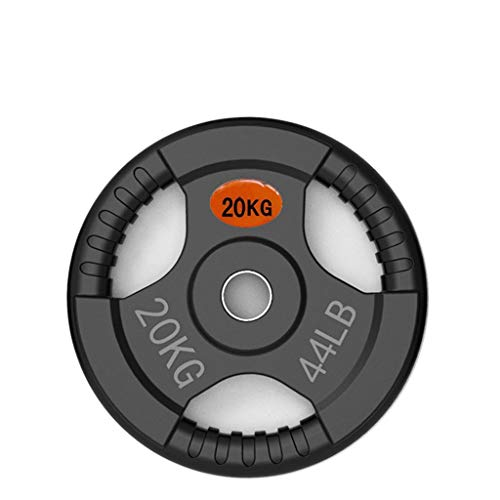 Ownlife Standard Gummi Gusseisen Hantelscheiben Sets, Langhantel Hantel Platten, Teller for Gewichtheben Bodybuilding Scheibenplatte (Größe : 20KG)