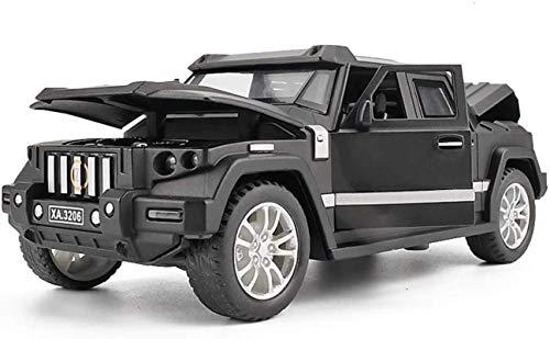 LICCC Modellauto Auto-Modell-Auto 1,32 Kampfschild Off-Road-SUV Simulation Legierung Druckguss-Spielzeug Ornamente Sport Car Collection Schmuck 15.2x6.5x5CM (Farbe, Schwarz), Gold
