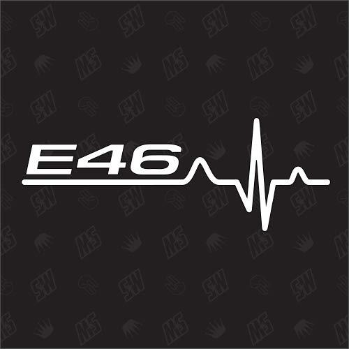 speedwerk-motorwear E46 - Pegatina para BMW con diseño de Latido de Corazones