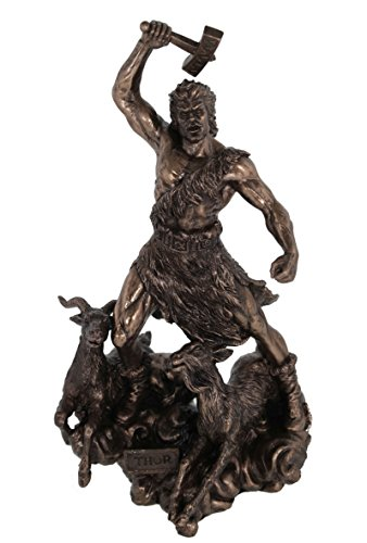 Veronese by Joh. Vogler GmbH Thor Gott des Donners Odin s Sohn bronziert Figur