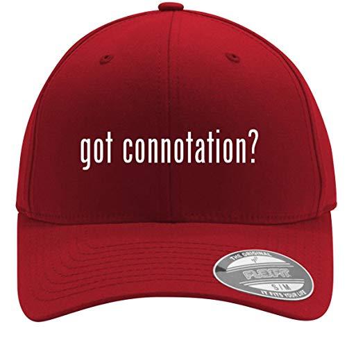 got Connotation? - Adult Men's Flexfit Baseball Hat Cap, Red, Large/X-Large