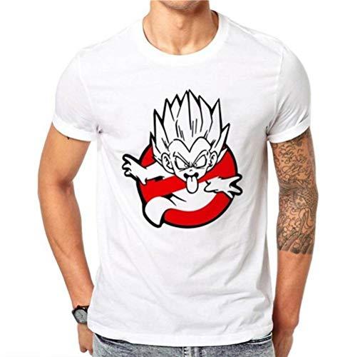 Herren Rundhals Kurzarm T-Shirt Baumwolle Casual T-Shirt Sommer Herren Kurzarm Top Fashion Print, BOSSLV, Weiß, XXL