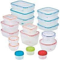 Lock n Lock Easy Essentials Color Mates 36 Piece Food Storage Container Set
