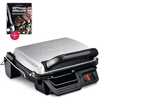 Tefal Promopack Kontaktgrill mit abnehmbaren antihaftversiegelte Aluguss-Platten Aufklappbar spülmaschinengeeignet (Grill + Rezeptbuch)