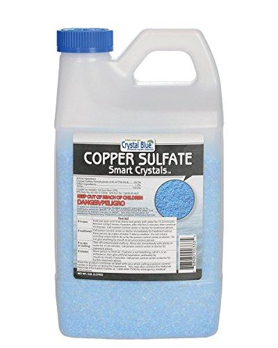 Crystal Blue Copper Sulfate Algaecide - Aquatic Grade Granular Pond Algae Control - 5 lbs