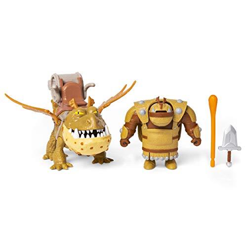 Dreamworks Dragons- Fishlegs en Meatlug, Draak met Vichingo, voor kinderen vanaf 4 jaar, meerkleurig, 6054788