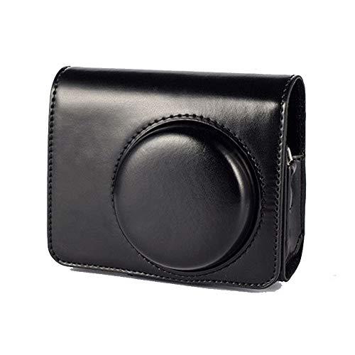 Little merry SONY ショルダーストラップ付き レザーケース 保護 RX100M1 RX100M2 RX100M3 RX100M4 RX100M5 RX100M6 RX100M7 裏地スエード カメラケース カメラカバー (ブラック)
