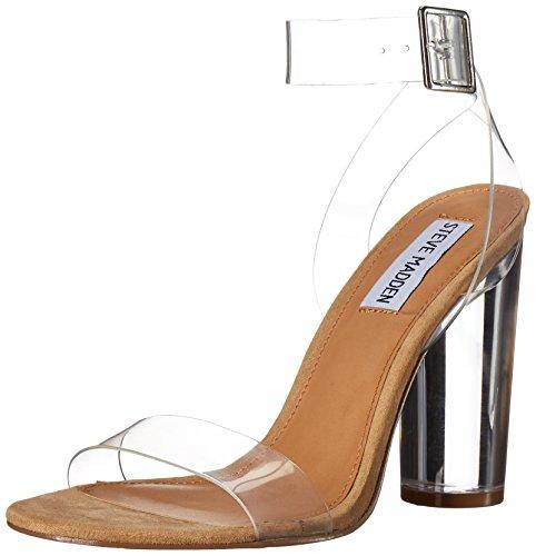 Steve Madden Women's Clearer Dress Sandal, Clear, 7.5 M US