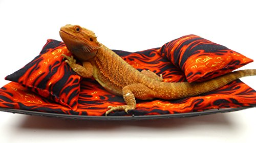 Chaise Lounge for Bearded Dragons, Flames fabric