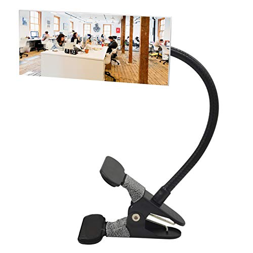 """Ampper Clip On Security Mirror, Convex Cubicle Mirror for Personal Safety and Security Desk Rear View Monitors or Anywhere (6.69"""" x 2.95"""", Rectangle)"""