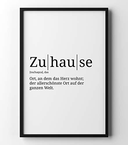 Papierschmiede Definition: Zuhause | DIN A4 | Poster mit Worterklärungen wie im Duden für Deine Wanddeko | Kunstdruck für den Bilderrahmen