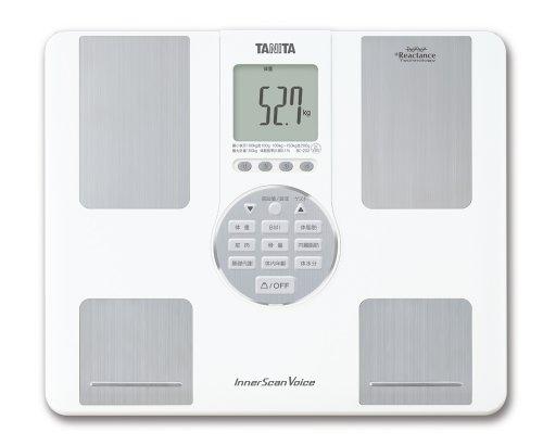 タニタ体重体組成計音声日本製ホワイトBC-202WH音声ガイダンス付き自動認識機能付/立てかけ収納OK