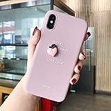 JIAHUI Funda De Teléfono con Patrón De Aguacate De Fruta 3D para iPhone XR XS MAX X 11 8 7 6 6S Plus Lovely Cubierta Trasera Bonita De Protección De Silicona Suave (Melocotón,For iPhone XR)