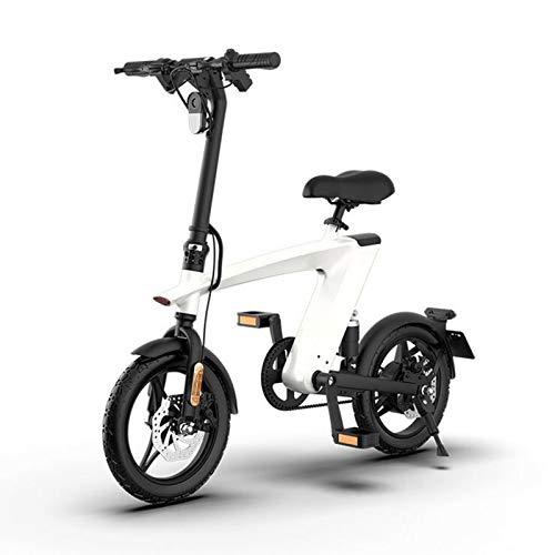 Gaoyanhang Bicicleta eléctrica-250W 10Ah Batería de Litio Dos Ruedas Doble Bicicleta eléctrica Motocicleta eléctrica (Color : White)