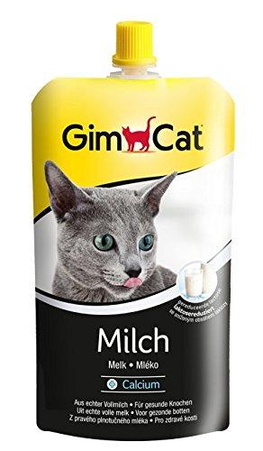 GimCat Milch - Katzenmilch aus echter laktosereduzierter Vollmilch mit Calcium für gesunde Knochen - 14 Beutel (14 x 200 g)