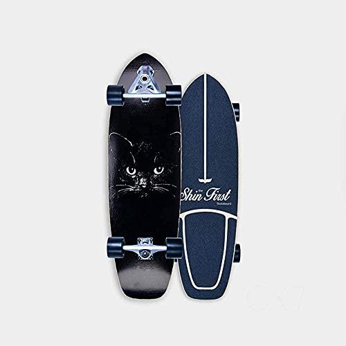 Tarver Surf Skate Skateboard para niños Cruiser 31 Pulgadas Freestyle Freestyle Completa Tablero Cepillo de la Calle E Longboard para Principiantes Niñas Niños Niños Adolescentes con rodamientos de