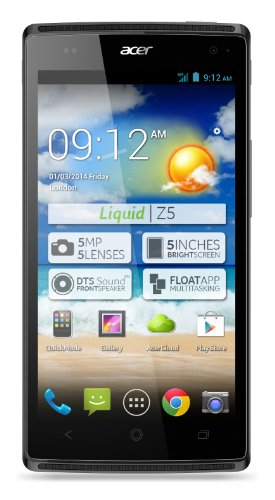 Acer Liquid Z5 Smartphone (12,7 cm (5 Zoll) Touchscreen, WiFi, Bluethooth 4.0, Android 4.2.2) silber