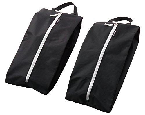 Alpamayo® Schuhtasche 2er Set, wasserdichter Kleidersack für Schuhe, einsetzbar als Koffer Organizer, Kleidertasche oder Packbeutel, schwarz