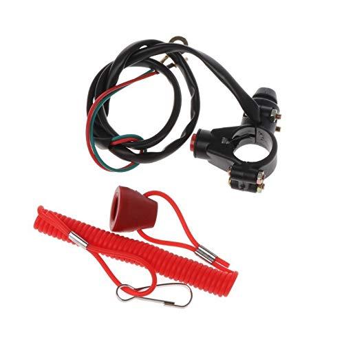 SHENLIJUAN 22mm 7/8' Sustitución del Interruptor de Parada de Emergencia del Motor Flameout de Cierre Equipo Universal de la Motocicleta