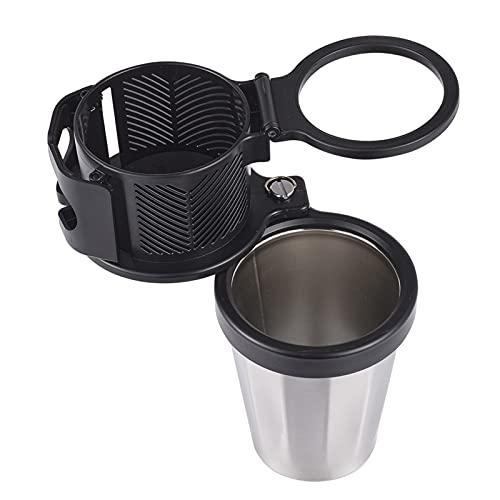 Portavasos para automóvil, Portavasos ajustable para automóvil con soporte para teléfono Organizador giratorio universal Organizador de botellas para tazas Soporte para botellas para bebidas Café