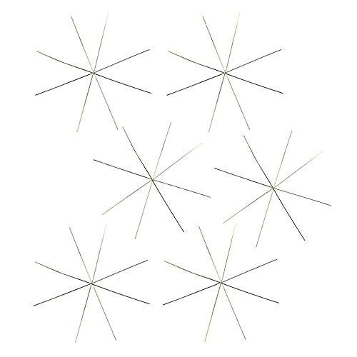 Drahtsterne | Ø 10 cm | 8-strahlig | hellgold | 6 Stück