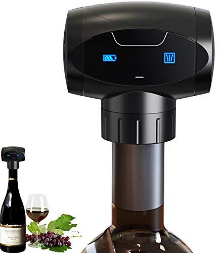 Weinverschluss, elektrischer Vakuum-Weinverschluss, wiederverwendbare Weinflaschen-Vakuum-Pumpe mit lebensmittelechtem Silikon